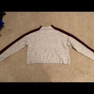 Grey/Maroon Sweater